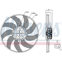 Nissens 85056 Fan radiator