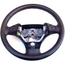 Mazda 6 3 Spoke Black Leather Multi Function Steering Wheel GP9A - Used