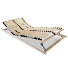 vidaXL Slatted Bed Base with 28 Slats 7 Zones 90x200cm Furniture Accessory