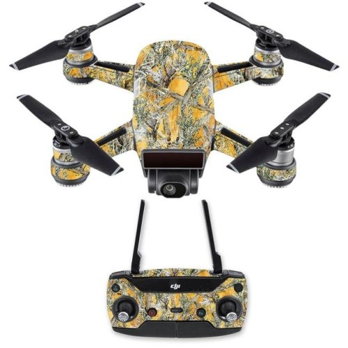 MightySkins DJSPCMB-Mc2 Blaze Skin Decal for DJI Spark Mini Drone Combo Sticker - Mc2 Blaze