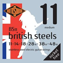 Rotosound Stainless Steel Medium Gauge Electric Guitar Strings (11 14 18 28 38 48)
