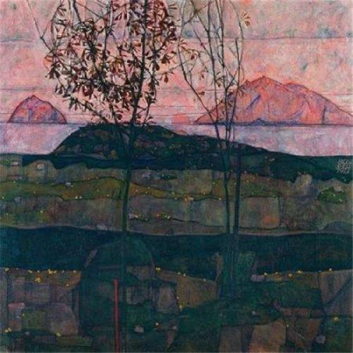 Setting Sun Poster Print by Egon Schiele, 24 x 24 - Large