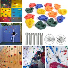 Rock Climbing Holds Wall Stones In/Outdoor Kids Playground With Fixing