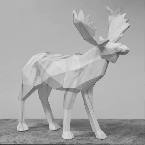 Marble Effect Figurine - Moose