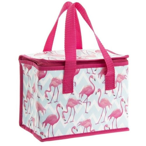 Leonardo Collection Flamingo Bay Pink Insulated Lunch Bags Set Of 2