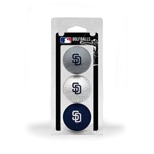 Team Golf MLB San Diego Padres Regulation Size Golf Balls 3 Pack Full Color Durable Team Imprint