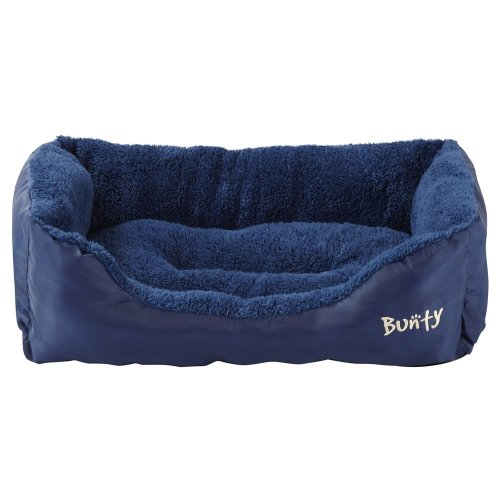 (Blue, XX-Large) Bunty Deluxe Dog Bed | Soft Fleece Pet Bed