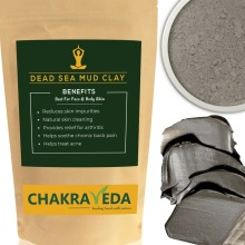 Dead Sea Mud Clay, Best for Skin, 100% Natural, 100g by ChakraVeda