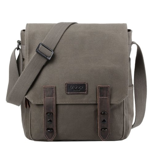 TRP0490 Troop London Classic Canvas Messenger Bag | Buy Bags Online | Canvas Messenger Bags | leather canvas backpack