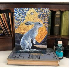 The Creggan White Hare Greetings card by Hannah Willow