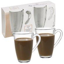 2 4 6 Large 325ml Coffee Tea Glass Cups Mugs