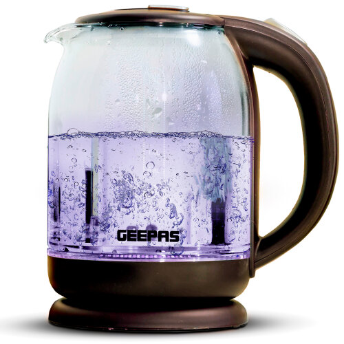 Geepas 1500W 1.8L Illuminating Glass Kettle | Electric Kettle