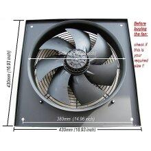 "Industrial Extractor Fan Ventilator 300mm/12"" Heavy Duty Extremely Powerfull, 240V"