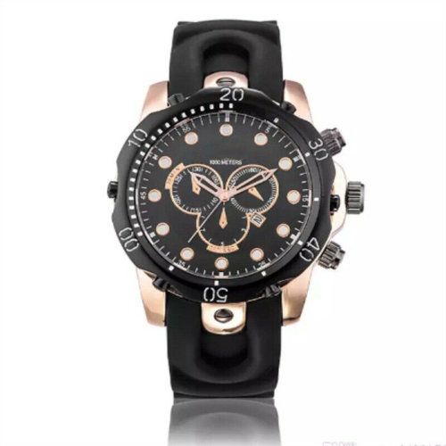 Men Quartz Watch Rubber Strap High Quality Chronograph Sport Watches