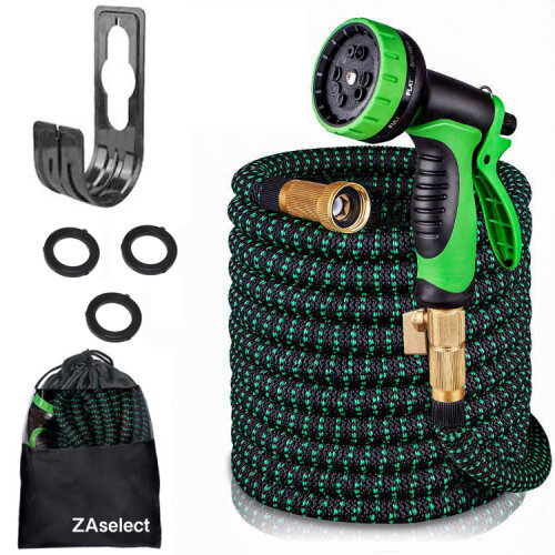 (100ft) Expandable Garden Hose With Double Core Latex