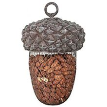 Hanging Metal Acorn Shape Nuts Bird Feeder