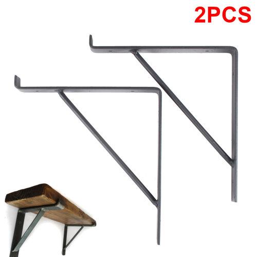 Rustic Scaffold Board Steel Shelf Brackets Industrial Heavy Duty