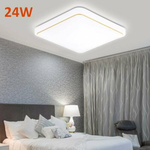 24W LED Ceiling Light Lamp Square Panel Down Lights Living Room