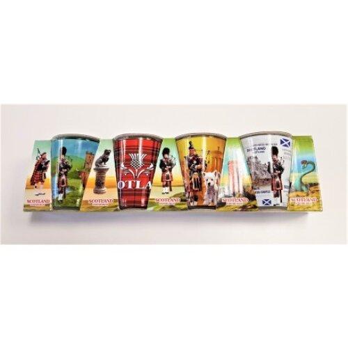 Scottish themed shot glasses