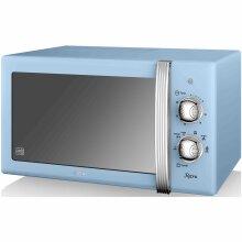 Swan Retro Manual Microwave 20 Litre 800 Watt Power