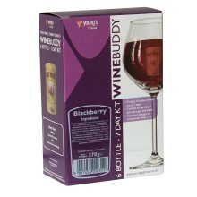 WineBuddy Blackberry 6 Bottle - 7 Day Home brew Wine Making Refill Kit