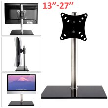 Single Arm LCD LED Monitor TV Bracket Desk Stand For 13-27''Screen UK