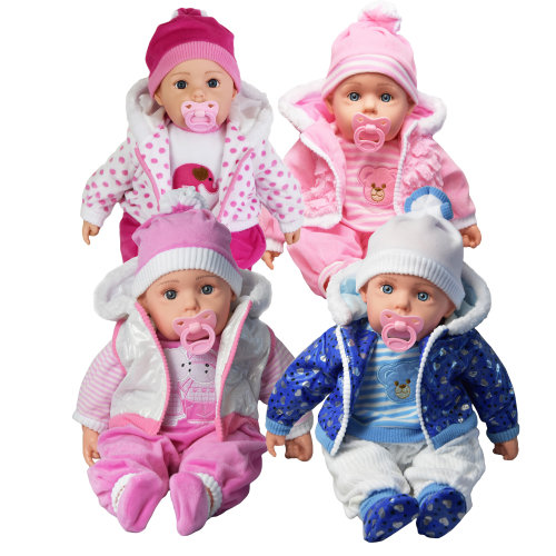 """The Magic Toy Shop 20"""" Lifelike Baby Doll   Soft Doll With 12 Sounds"""