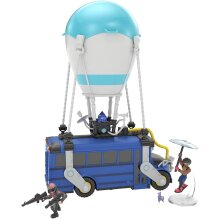 Fortnite Royale Collection Battle Bus and 2 Exclusive Figures Funk Ops and Burnout, Blue