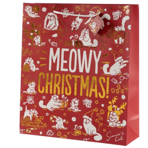 Meowy Christmas Simons Cat Extra Large Christmas Gift Bag