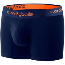Comfyballs Cotton Long Boxer Shorts Fitness Training Superior Comfort - Navy