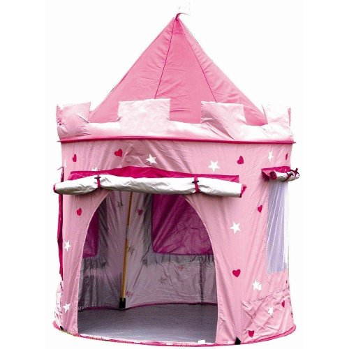 KiddyPlay Pink Pop-Up Castle Play Tent