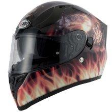 Vcan V128 Flame Full Face DVS Motorcycle Helmet