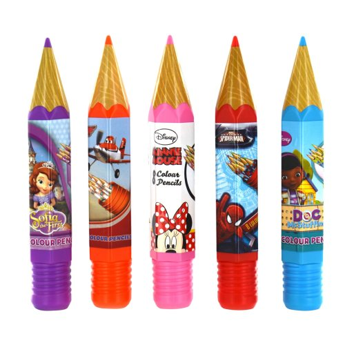 Disney Marvel Character Giant Novelty Pencil Case Tube Pencils School Stationary