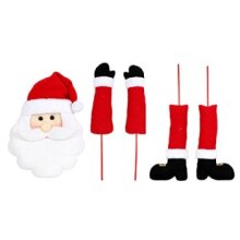 DEI Santa Head Decor Plush 16 h