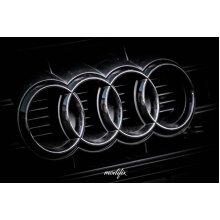 MODIFIX   AUDI BLACK GLOSS FRONT & REAR RINGS BADGE EMBLEM AUDI A1 A3 A4 A5 A6 TT S3 S4 S5 S6 RS3 RS4 RS5 RS6 S-LINE QUATTRO