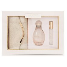 Sarah Jessica Parker Lovely Gift Set 100ml EDP + 10ml Rollerball with Gold Clutch Bag