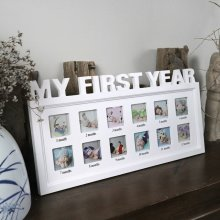 MY FIRST YEAR DIY Baby Growth Photo Frames Picture Display Keepsake