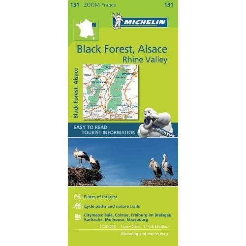 Black Forest, Alsace, Rhine Valley - Zoom Map 131 (Michelin Zoom Maps)