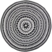 Hoooked PAK167-41 Crochet Island Rug Kit with RibbonXL, Silver Grey