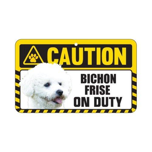 Bichon Frise Caution Sign