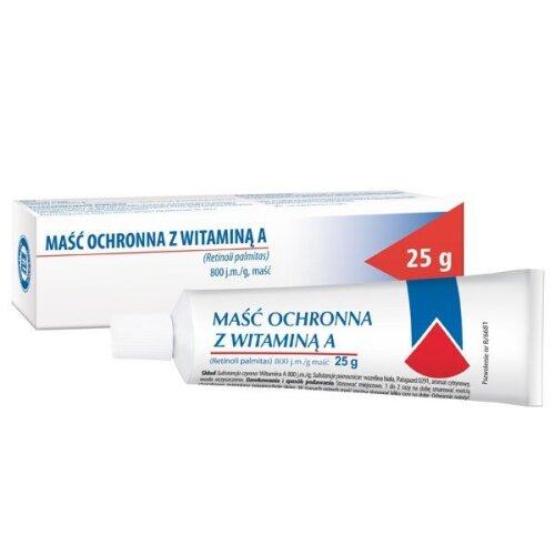 Protective ointment with vitamin A g, 25 g, masc ochronna z wit A