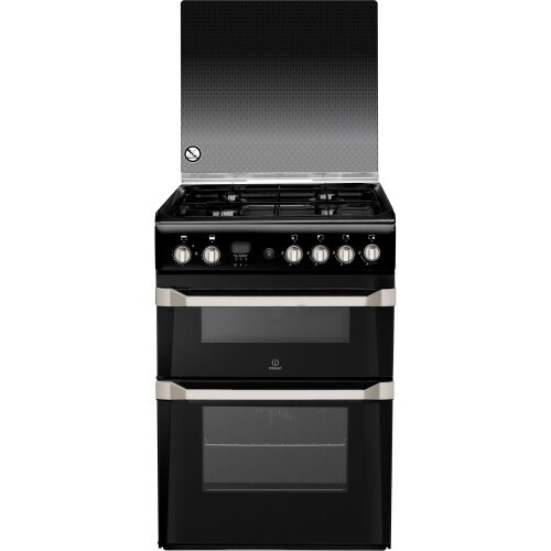 Indesit ID60G2K Advance /A Gas Cooker with Gas Hob 60cm Free Standing Black