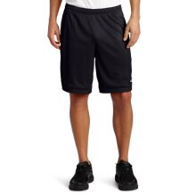 champion Mens Long Mesh Short With Pockets,Black,Medium
