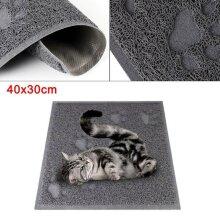Rectangle 40x30cm Cat Litter Tray Mat Clean Floor Pet Box Pan Hooded Litter Mat