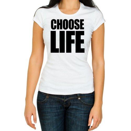 (S) Choose Life WHAM women T Shirt Retro 80s Fancy