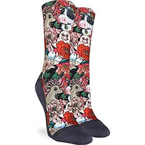 Socks - Good Luck Sock - Women's Active Fit - Floral Farm (5-9) 5110