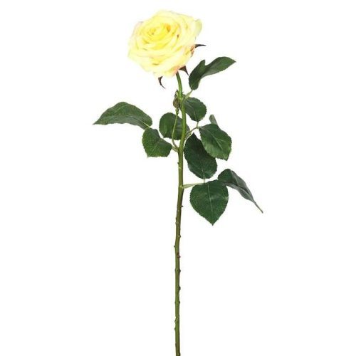 Vickerman FA173902 Real Touch Rose Floral Stem, Yellow - 26 in. - Pack of 3