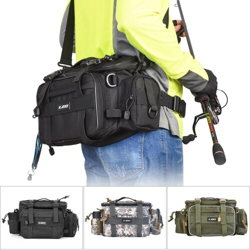 Bag For Fishing Case Outdoor Sports Waist Pack, Lures Gear Storage Backpack Single Shoulder Cross Body
