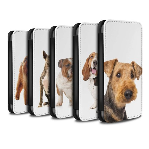 Dog Breeds Samsung Galaxy A20e 2019 Phone Case Wallet Flip Faux PU Leather Cover for Samsung Galaxy A20e 2019