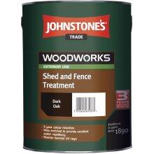 5L JOHNSTONE'S WOODWORKS SHED & FENCE QUICK DRY WOODSTAIN DARK OAK